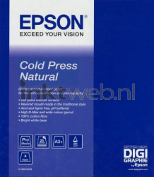 Epson Cold Press Natural Fotopapier A3 wit C13S042300