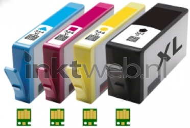 HP 364XL Multipack zwart en kleur RE-364XL-MP